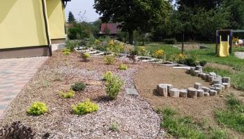Úprava zahrady MŠ Ostrov v přírodním stylu